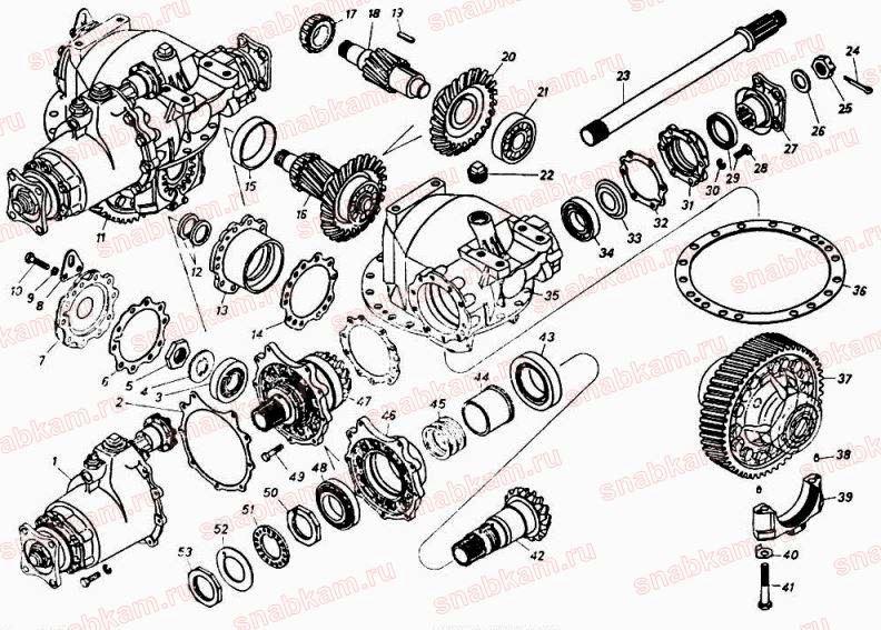 Схема каталог среднегоредуктора КАМАЗ 5320